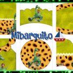 Cumpleaños de Un Gran Dinosaurio imprimibles para decoración