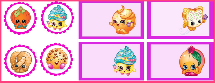 Imprimibles Shopkins decoracion - Fiesta Cumpleaños Shopkins - Stickers Shopkins - Etiquetas Shopkins - Pegatinas Shopkins