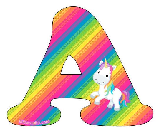 Letras Unicornios Abecedario Para Imprimir Gratis on Unicorn Color By Number