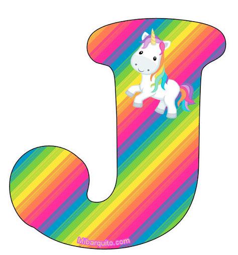 Letras Unicornios Abecedario Para Imprimir Gratis on Numeros Para Colorear