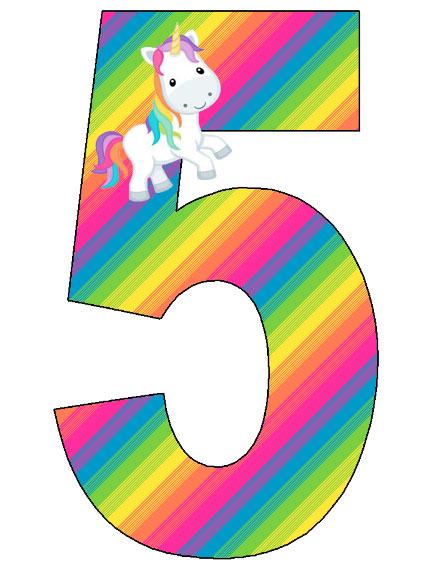 Números de Unicornios para descargar gratis | Mi Barquito