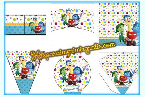 Kits imprimibles de IntensaMente para decorar banderin topper adorno wrappers stickers conos de IntensaMente