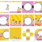 Ideas para cumple de Minions Girls, kit para imprimir y decorar