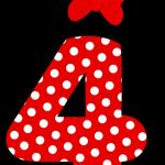 Números de Minnie, ideal para adornos de fiestas y cumpleaños