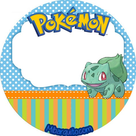 stickers redondos pokemon - imprimibles gratis pokemon
