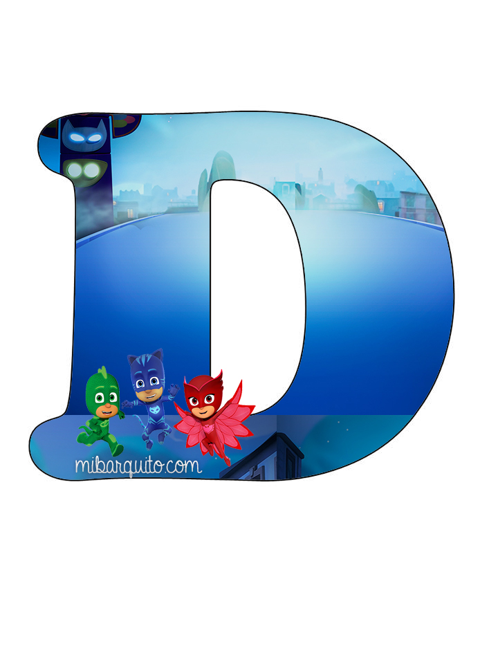 letras abecedario de pj masks para descargar gratis