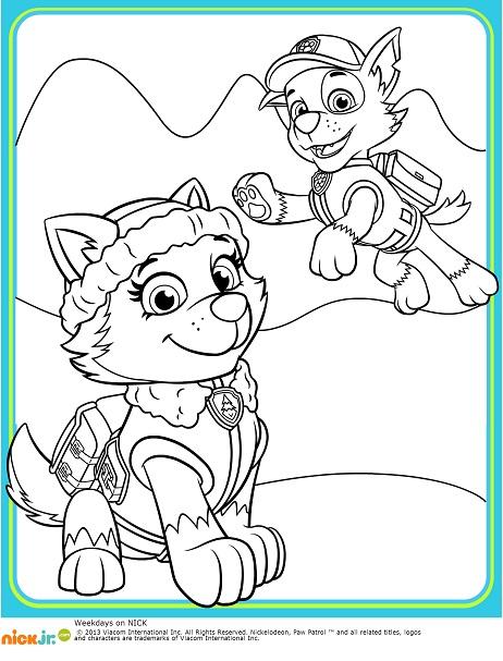 Paw Patrol Dibujos para colorear