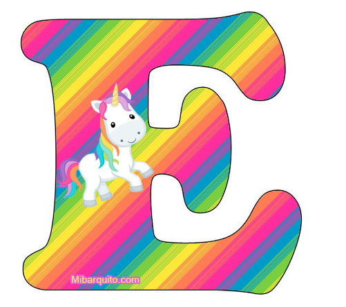 Letras Unicornios Abecedario para Imprimir Gratis | Mi