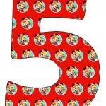 Numeros de Mickey Sobre Ruedas para imprimir gratis