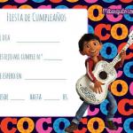 Coco Invitaciones de Cumpleanos