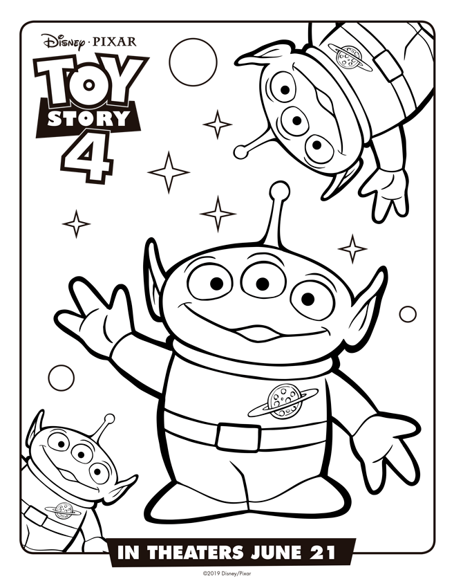 Marcianitos Toy Story 4 Dibujos Para Imprimir Y Pintar Mi